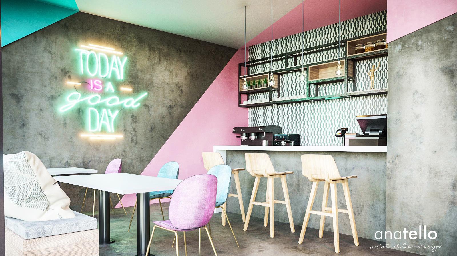Diseño cafetería